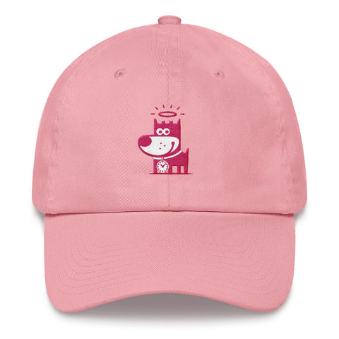 Good Puppy Logo Pink . Unstructured Baseball Cap