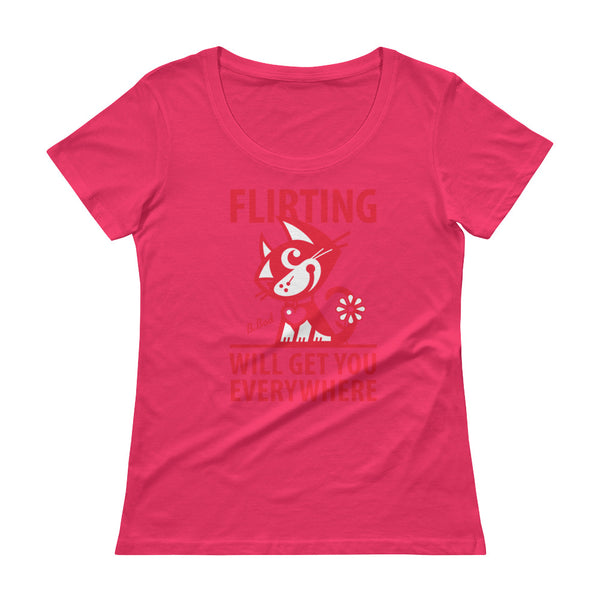 Flirting . Red Print . Women's T-Shirt