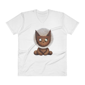 PEPI . Apollo . Lucky Louie . Men's T-Shirt . V-Neck . Lightweight . White