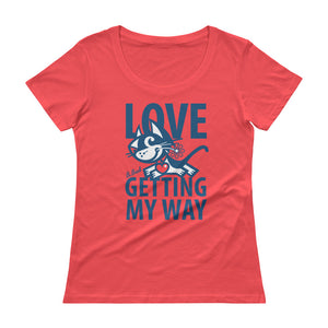 Love . Blue Print . Women's T-Shirt
