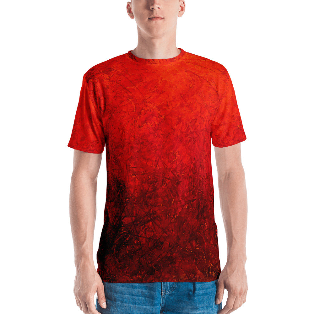 MARINA DI META . Light Vessels . Within .  Men's T-Shirt . Crew Neck . All Over Pre-Cut Print