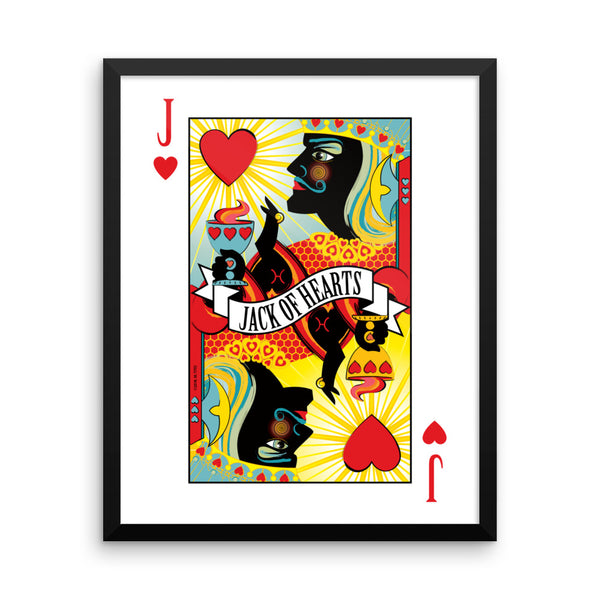 Jack Of Hearts . Framed Matte Print