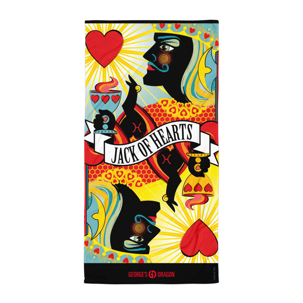 STACK THE DECK . Jack Of Hearts . Towel