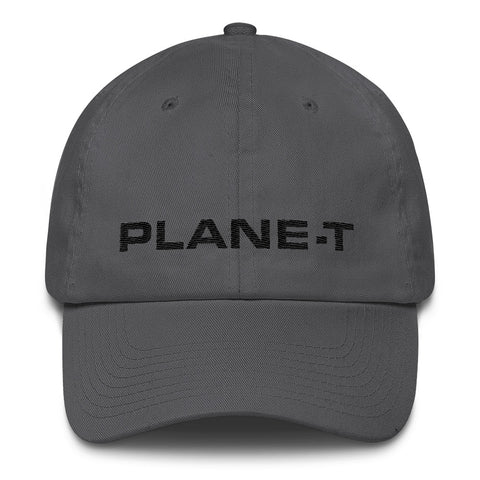 Unisex Gifts . PLANE-T . Baseball Cap . Unstructured . Dark Gray