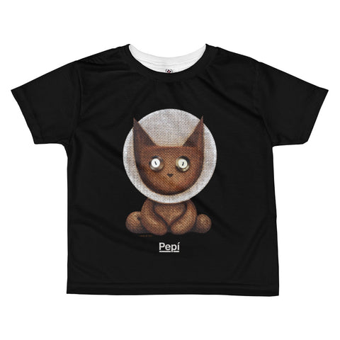 Apollo Lucky Louie . Kids' T-Shirt . Black