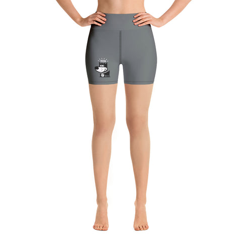 Logo . Dark Gray . Yoga Shorts
