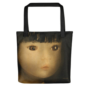 MARINA DI META . Light Vessels . Efflux . Weather-Resistant Tote Bag