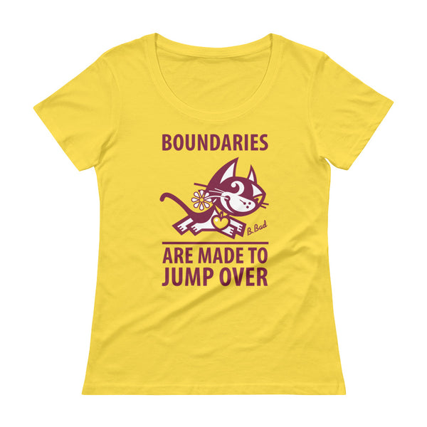 Boundaries . Raspberry Print . Women's T-Shirt