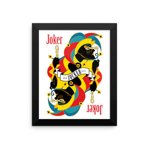 GEORGE'S DRAGON . Stack The Deck . Joker . Framed Matte Print