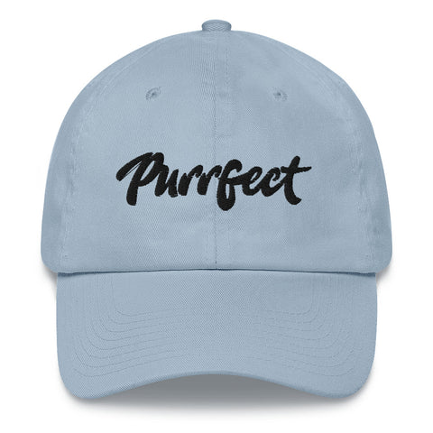Purrfect . Black . Dad Hat
