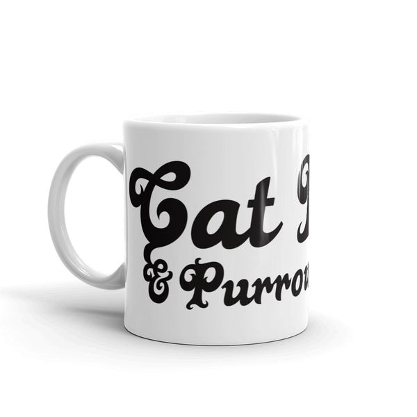 Cat Lady . Black . Mug