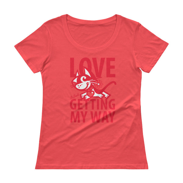 BETTY BAD KITTY . Love . Red Print . Women's T-Shirt