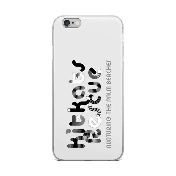 KitKats Rescue . Grayscale Logo . iPhone Case
