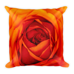 MARINA DI META . Light Vessels . Orange Rose . Square Pillow