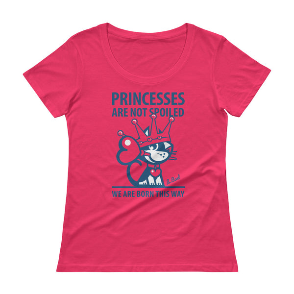 BETTY BAD KITTY . Princess . Blue Print . Women's T-Shirt