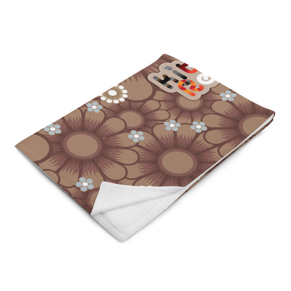 KitKats Rescue . Taupe Flower Bed . Throw Blanket