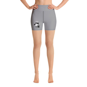 Logo . Light Gray . Yoga Shorts