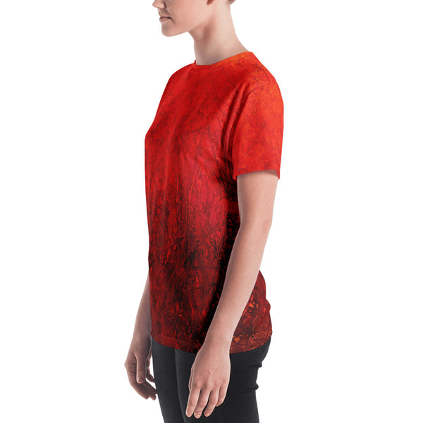 MARINA DI META . Light Vessels . Within . Women's Crew T-Shirt . All Over Pre-Cut Print