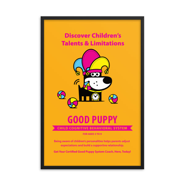 Good Puppy System Practice Promo Poster II . Framed 24x36