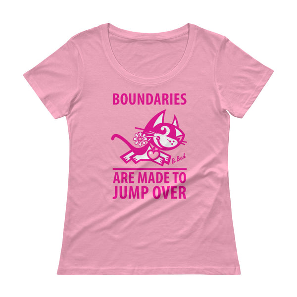 Boundaries . Magenta Print . Women's T-Shirt