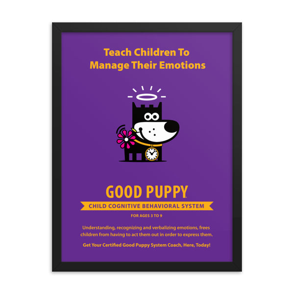 Good Puppy System Practice Promo Poster IV . Framed 18x24