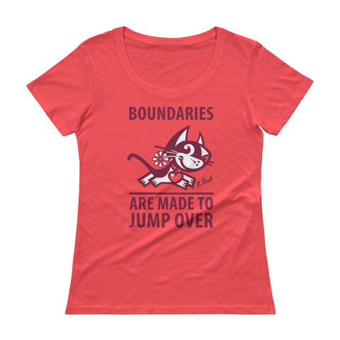 BETTY BAD KITTY . Boundaries . Raspberry Print . Women's T-Shirt