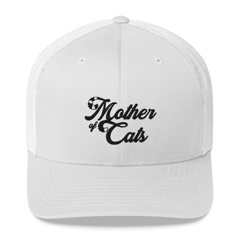 Mother Of Cats . Black . Trucker Cap