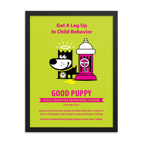 Good Puppy System Practice Promo Poster VI . Framed 18x24