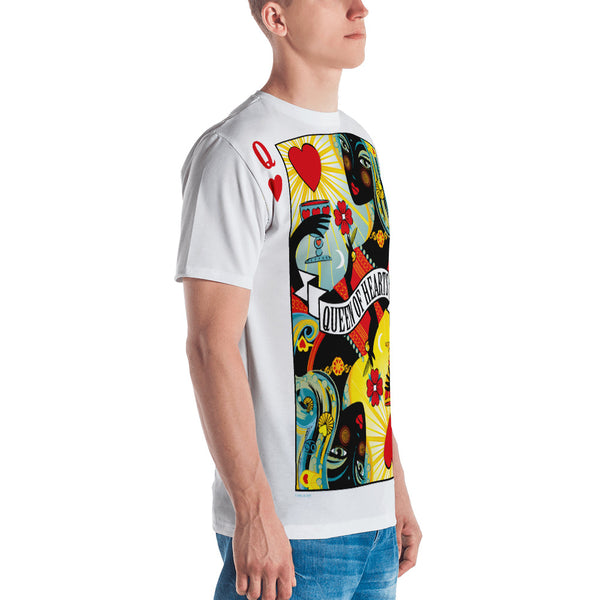 Queen Of Hearts . Men's Crew Neck T-Shirt