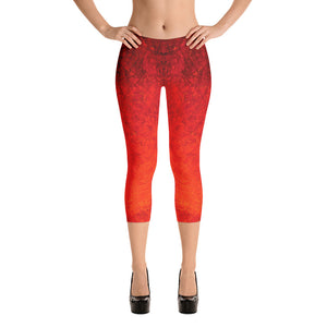 Unique Women's Capri Leggings, Marina Di Meta, George's Dragon