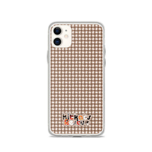 KitKats Rescue . Taupe Weave . iPhone Case