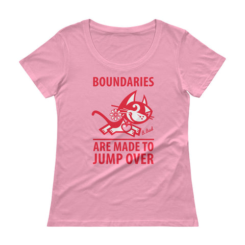 Boundaries . Red Print . Women's T-Shirt