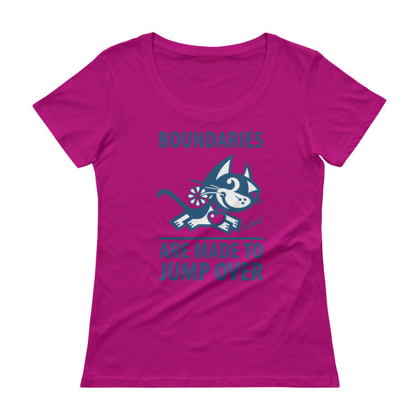 BETTY BAD KITTY . Boundaries . Blue Print . Women's T-Shirt