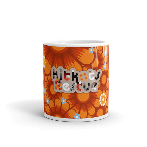 KitKats Rescue . Orange Flower Bed . Mug