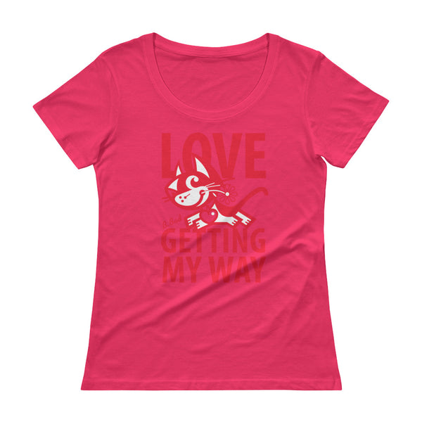 Love . Red Print . Women's T-Shirt