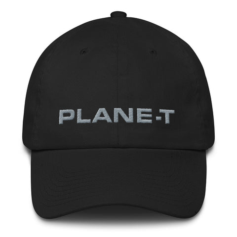 Unisex Gifts . PLANE-T . Baseball Cap . Unstructured . Black