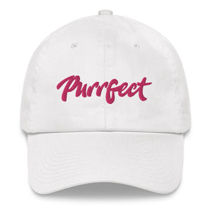 Purrfect . Pink . Dad Hat
