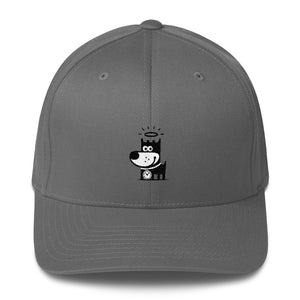 Good Puppy Logo Black . Structured Baseball Cap