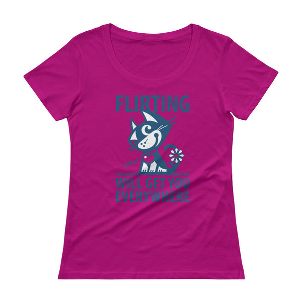 Flirting . Blue Print . Women's T-Shirt . Green