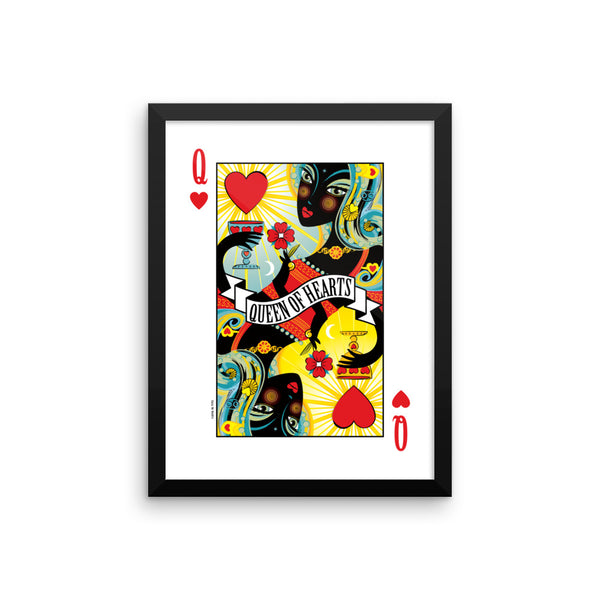 Queen Of Hearts . Framed Matte Print