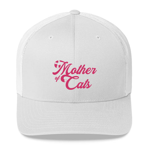 Mother of Cats . Pink . Trucker Cap