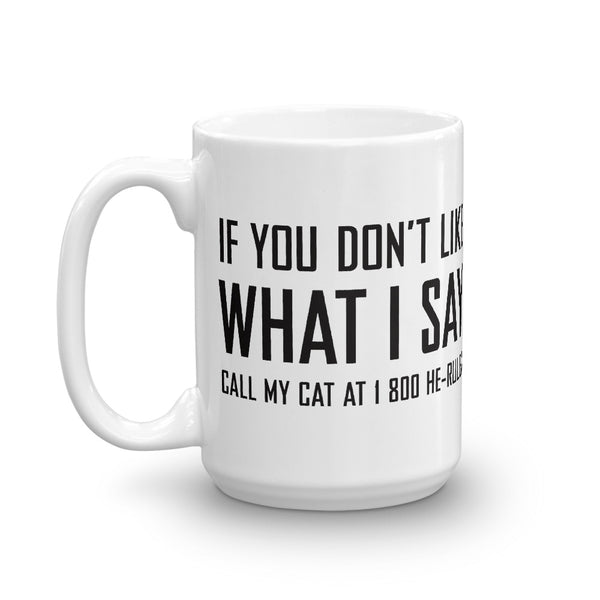 Call My Cat . Black . Mug