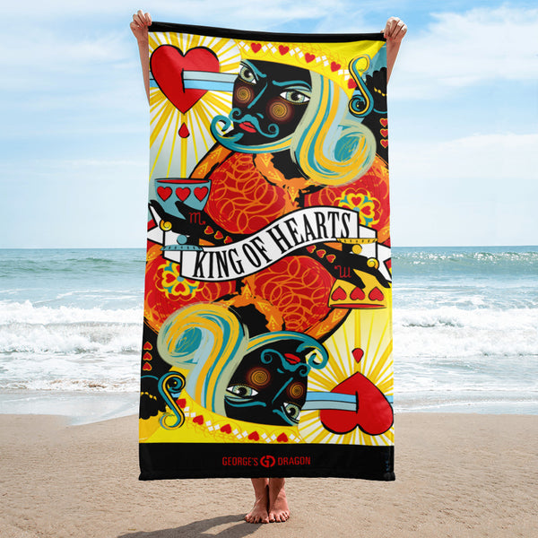 STACK THE DECK . King Of Hearts . Towel