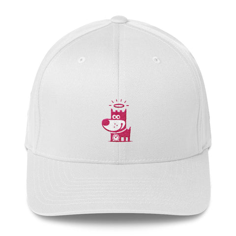Good Puppy Logo Pink . Structured Baseball Cap