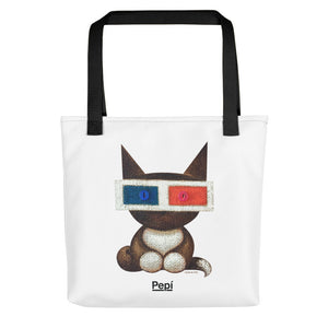 Polarity Maya . Weather-Resistant Tote Bag . White