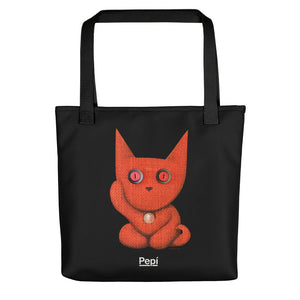 Lucky Mars . Weather-Resistant Tote Bag . Black