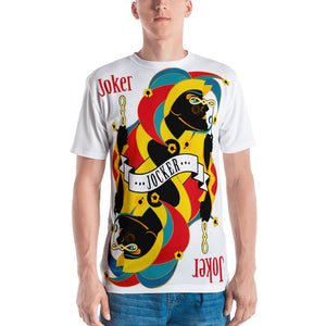 STACK THE DECK . Joker . Men's T-Shirt . Crew Neck . All Over Pre-Cut Print