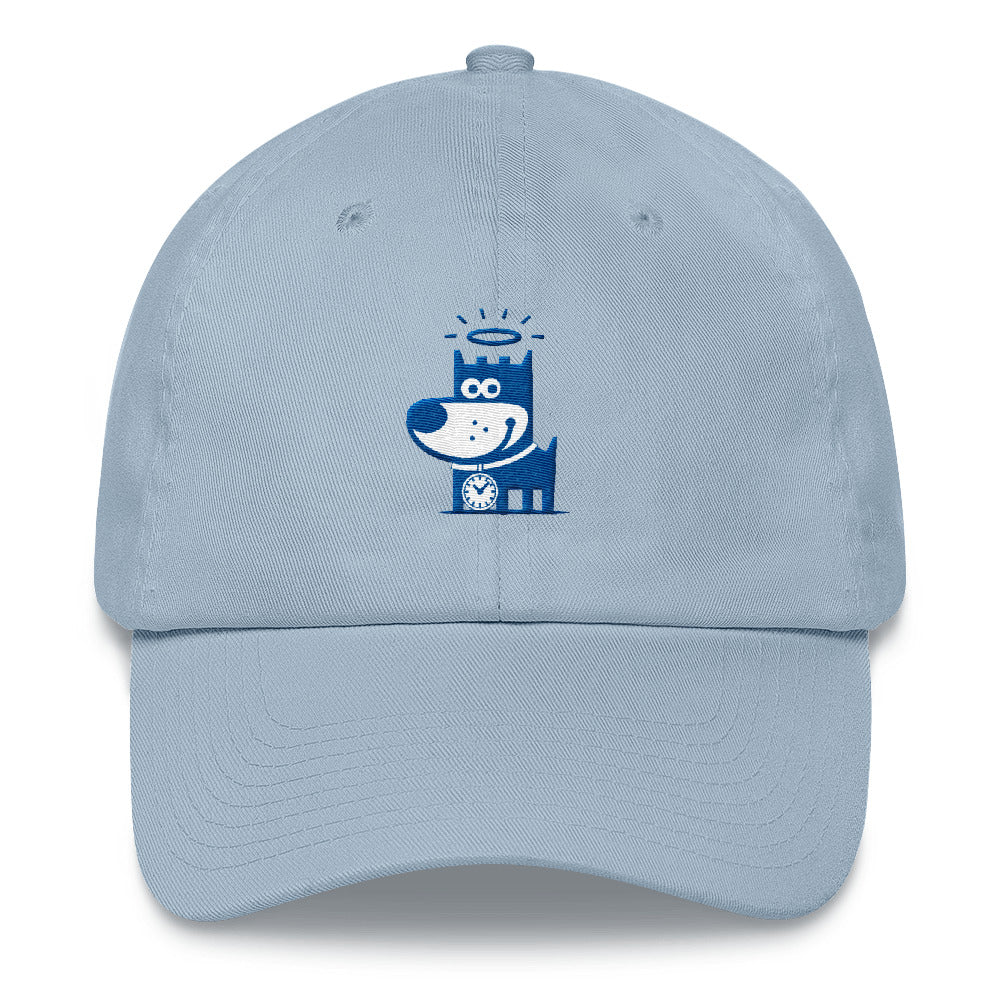 Good Puppy Logo Blue . Unstructured Baseball Cap