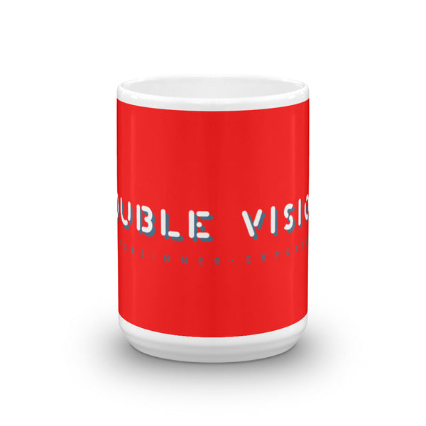 Double Vision . Red Logo . Mug