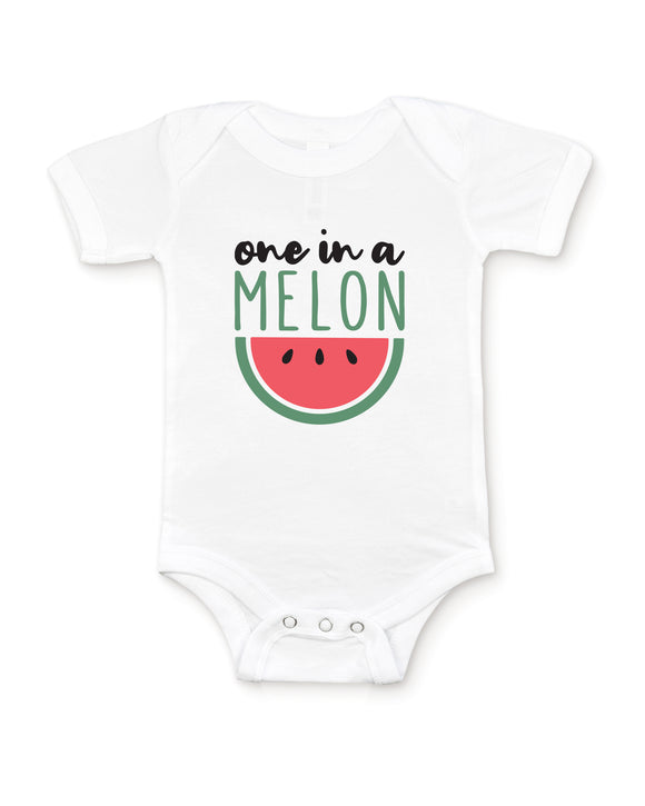 White Baby Graphic Bodysuit Flat